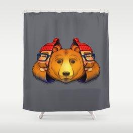 Bear Inside Shower Curtain