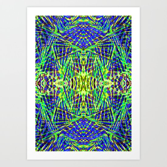 Tribal green Art Print