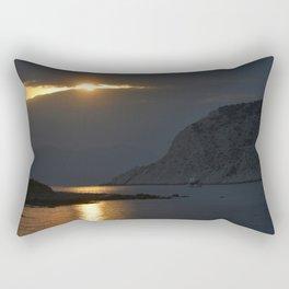 Sunset in Poros Rectangular Pillow