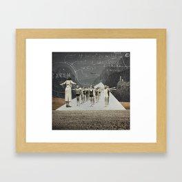 School of flight Framed Art Print