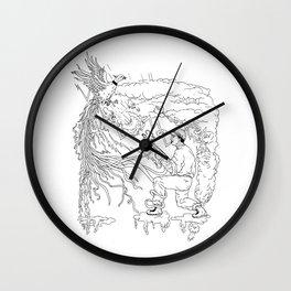 Hunter and Pheasant Ukiyo-e Wall Clock