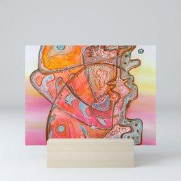 Something Jurassic In Pink Mini Art Print