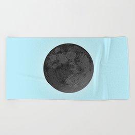 BLACK MOON + BLUE SKY Beach Towel