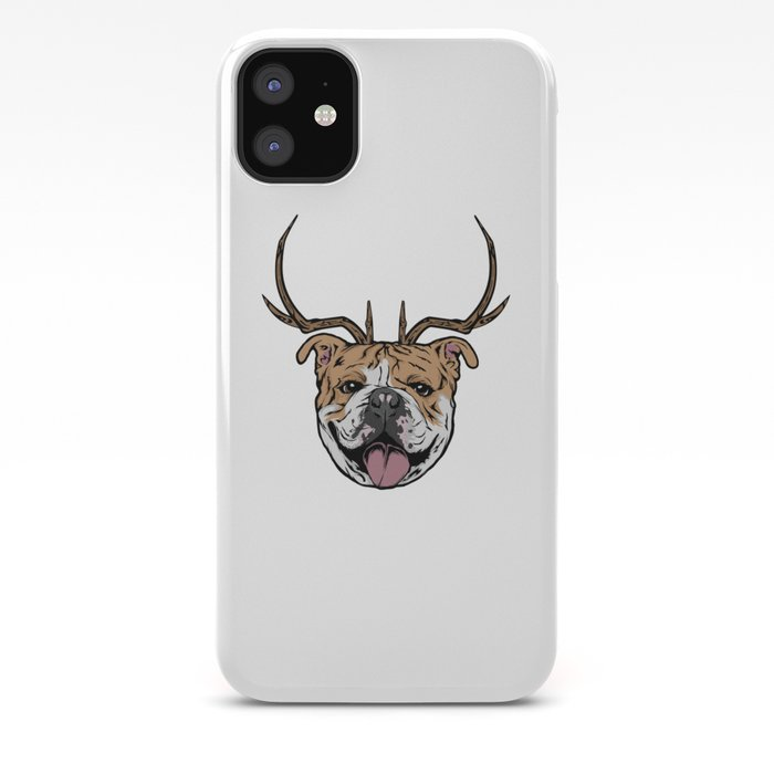Christmas Bulldogs iphone case