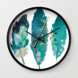 Boho Feathers print, Printable art, Printable Feathers, Wall art, Woodland Printable, Kids Room Art, Wall Clock