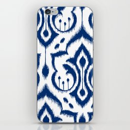 Ikat Damask Navy iPhone Skin