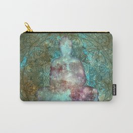 Watercolor Mandala Buddha in Galaxy Carry-All Pouch