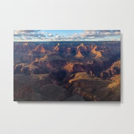 South Rim - Grand Canyon Illuminated in Evening Sunlight Metal Print