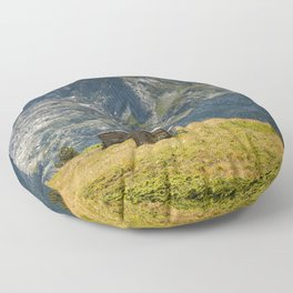 In The Mountains Floor Pillow