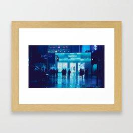 Tokyo Nights / Rain / Liam Wong Framed Art Print