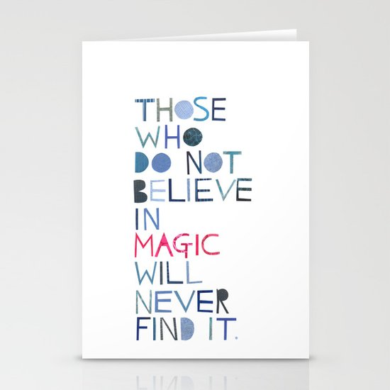 Believe in magic... Stationery Cards