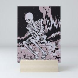 Skull Under The Moonlight Mini Art Print