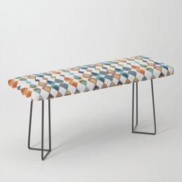 Mid Century Drop Pattern Bench