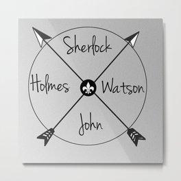 Holmes'Watson Metal Print