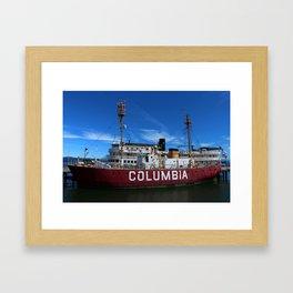 Fireship Columbia Framed Art Print