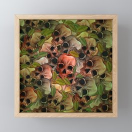 Apple Skull Framed Mini Art Print