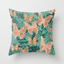 Butterflies Fluttering Throw Pillow