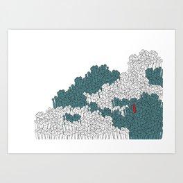 Crowed Art Print