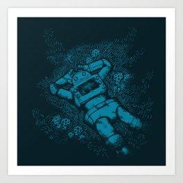 Robots In Love Art Print