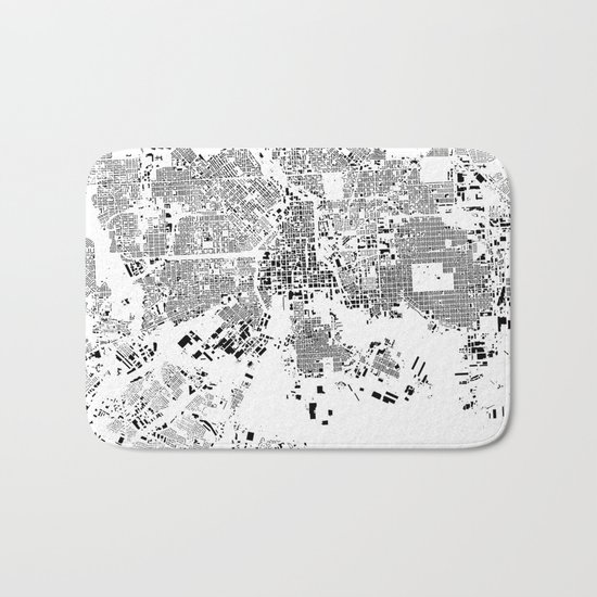 Baltimore Map Schwarzplan Only Buildings Bath Mat