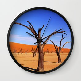 Dead Vlei Namibia II Wall Clock