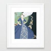 marie antoinette Framed Art Prints featuring Marie Antoinette by Theresa Ganzer