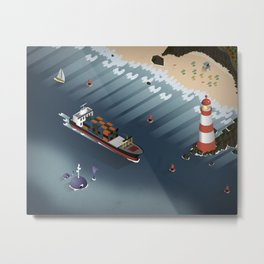 A Day on the Coast Metal Print