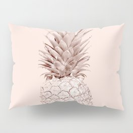 Rose Gold Pineapple on Blush Pink Pillow Sham