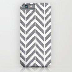 Gray Broken Chevron iPhone 6s Slim Case