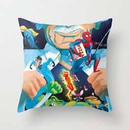 The Marvelous Mr. Lee Throw Pillow