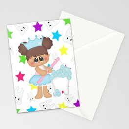 Tooth Fairy Brushing Teeth Stationery Cards
