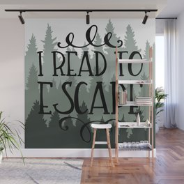 I Read to Escape (Trees) Wall Mural