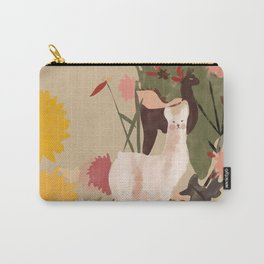 llama in the garden Carry-All Pouch