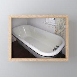 Vintage Bathtub Framed Mini Art Print
