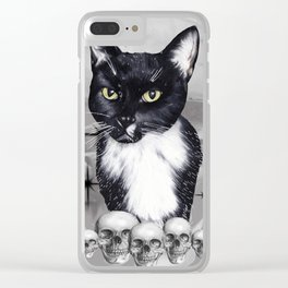 Witches Cat Clear iPhone Case