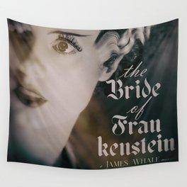 The Bride of Frankenstein, vintage movie poster, Boris Karloff cult horror Wall Tapestry