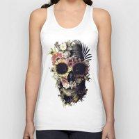 garden Tank Tops featuring Garden Skull by Ali GULEC