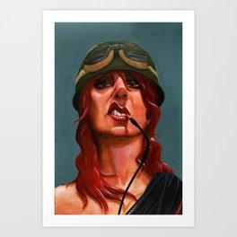 Smoking Cables Art Print