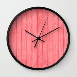 Bright Coral wood Wall Clock