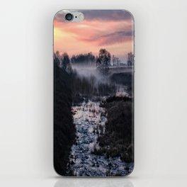 Foggy Sunrise At Chasewater iPhone Skin