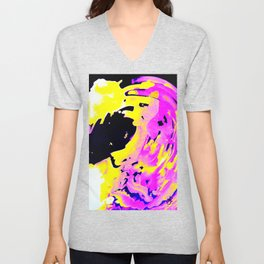 If Girls had their way with waves, Pink Minimal Water Unisex V-Neck