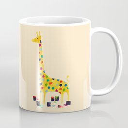 Paint by number giraffe Coffee Mug