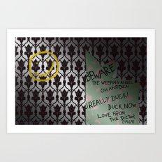 221 Beware Art Print