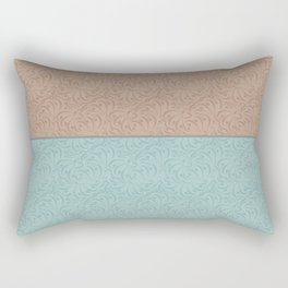 Combo beige turquoise abstract pattern . Rectangular Pillow