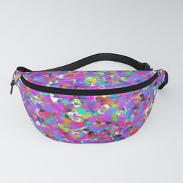 Colorful abstract whimsical bright splatters Fanny Pack