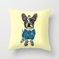 sports Throw Pillows featuring Sports Day by dogooder