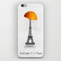 paris iPhone & iPod Skins featuring Paris by Mehdi Elkorchi