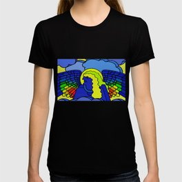 GALGALIEL the blue angel of vibrations T-shirt