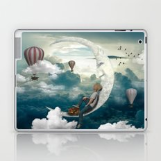 The boy and moon Laptop & iPad Skin