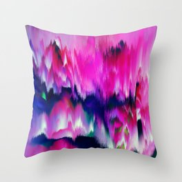FASCINATE - Glitch - Pink and Blue Throw Pillow